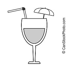 tropical cocktail icon