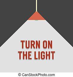 Flat Design Turn On The Light. - Flat Design Turn On The...