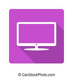 Flat design. TV icon