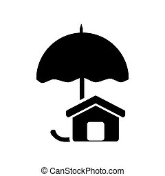 umbrella and house icon
