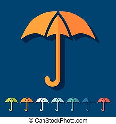 Flat design: umbrella
