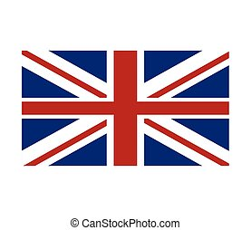 union jack great britain flag icon - flat design union jack...