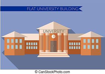 Flat design University building