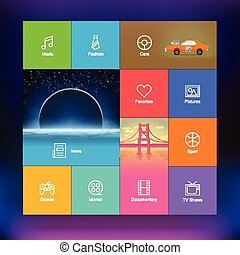 Flat Design User Interface Template