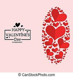 Flat design valentine's
