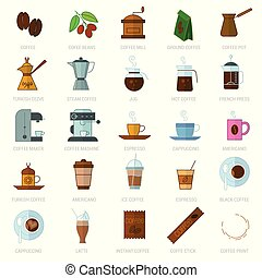 coffe icon set.