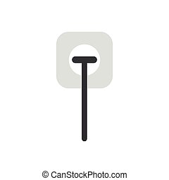 Flat design vector concept of electrical plug plugged into outlet