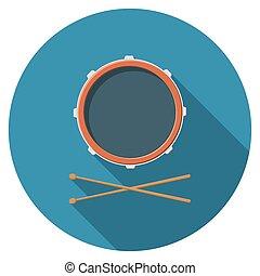Flat design vector drum icon