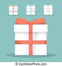 Flat Design Vector Gift Boxes Set