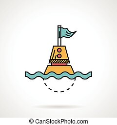Flat design vector icon for buoy