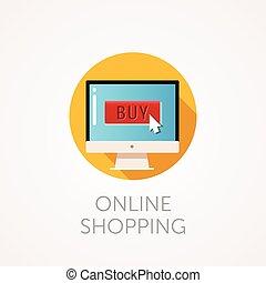 flat design vector illustration concept of online shop