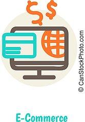 Flat design vector illustration concepts of online payment methods