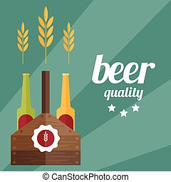 flat design vector illustration of beer theme