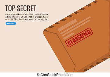 Flat Design Vector of a Classified Files