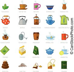 tea icon set.