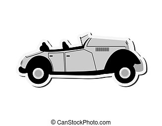 vintage convertible car icon