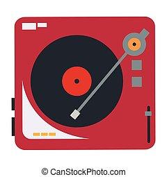 vinyl record player icon - flat design vinyl record player ...