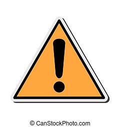 warning sign icon