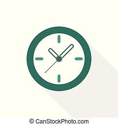 Flat design watch vector icon