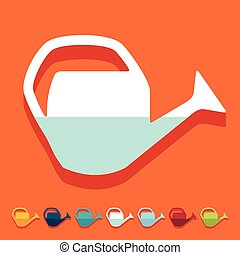 Flat design: watering can