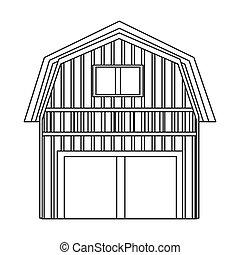 wooden barn icon