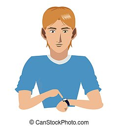 young man with watch icon