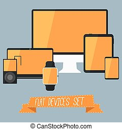 Flat Devices Set