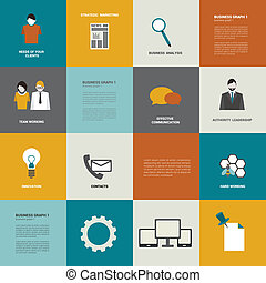 Flat diagram. Business icon concept. Simply editable vector...