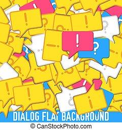 flat dialog background concept. Vector illustration design