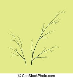 Flat dill illustration isolated. Hand drawing flavoring...