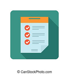 Flat document icon