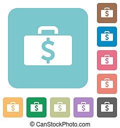 Flat Dollar bag icons