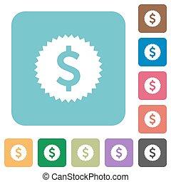 Flat Dollar sticker icons