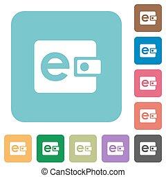 Flat e-wallet icons