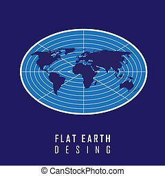 The flat earth model is a view that the earths shape is a flat flat earth desing concept illustration vector graphic publicscrutiny Choice Image