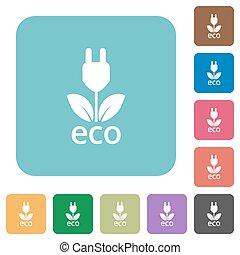 Flat eco energy icons