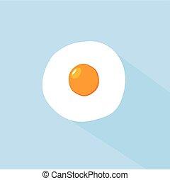 Flat Egg Icon