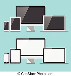 Flat Electronic Devices Set