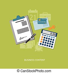 flat  elements of business
