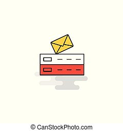 Flat Email Icon. Vector