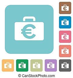 Flat Euro bag icons