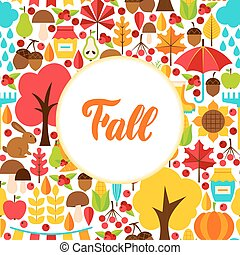 Flat Fall Seasonal Greeting