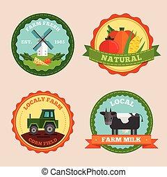 Flat Farm Emblem Set