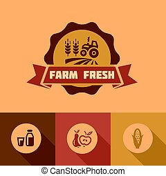 flat farm fresh design elements