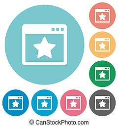 Flat favorite application icons