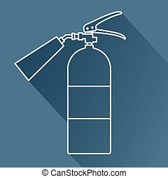flat fire extinguisher - Vector flat fire extinguisher icon....