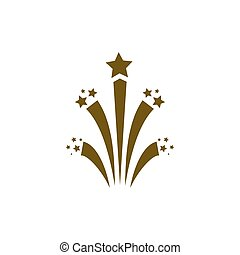Flat firework icon vector illustration