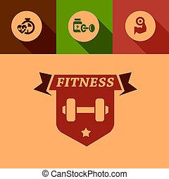 flat fitness design elements