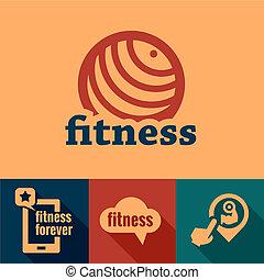 flat fitness emblems