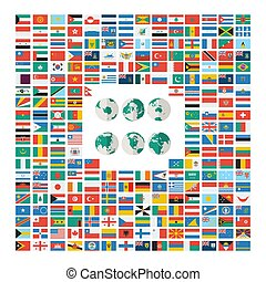 Flat flags of the world